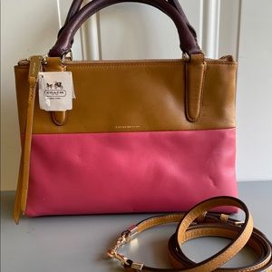 "Coach ""Borough"" Mini Bag Tan/Pink NWT"